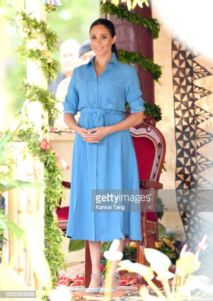 Meghan Duchess of Sussex visits Tupou College on October 26 2018 in Nuku'alofa Tonga The Duke and Duchess of Sussex are on their official 16day...