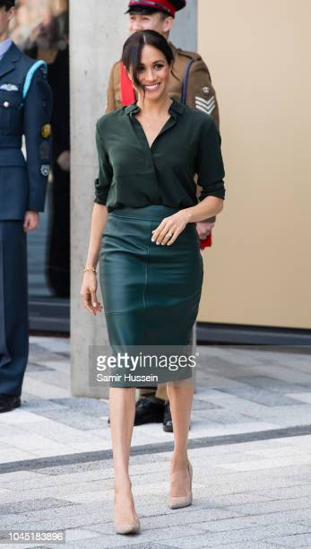 Meghan, Duchess of Sussex visits University of Chichester's Engineering and Digital Technology Park during an official visit to Sussex on October 3,...