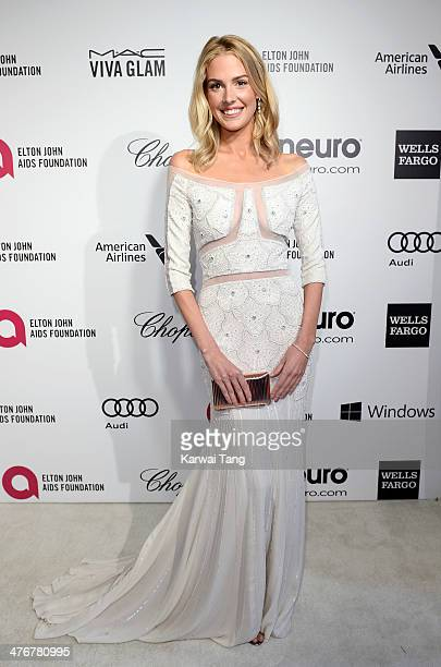 Meghan Flather arrives for the 22nd Annual Elton John AIDS Foundation's Oscar Viewing Party held at West Hollywood Park on March 2 2014 in West...