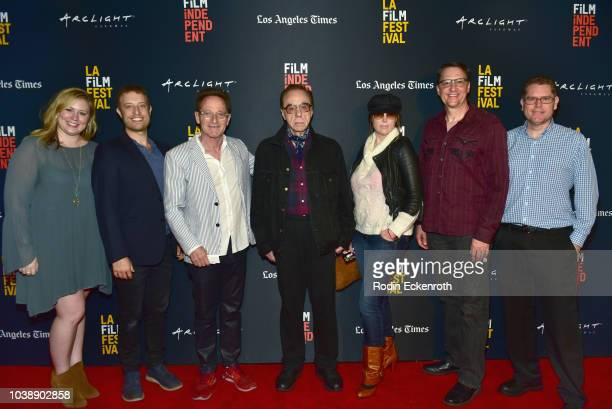 Meghan Geier Dustin Pearlman Roee Sharon Peled Peter Bogdanovich Louise Stratten Bill BergHillinger and Charles V Bender attend the screening of The...