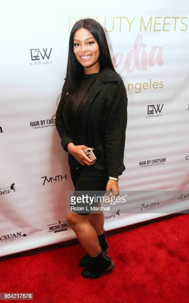 Meghan James attends 'Beauty Meets Media' event at Pamplona 89 on March 18 2018 in Los Angeles California