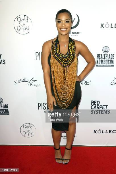 Meghan James attends Kollectin Fashion Jewelry popup night on June 21 2018 in Los Angeles California
