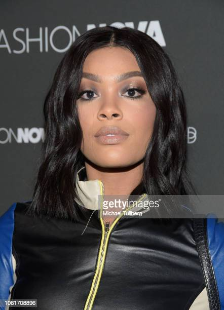 Meghan James attends the Fashion Nova x Cardi B collaboration launch event at Boulevard3 on November 14 2018 in Hollywood California