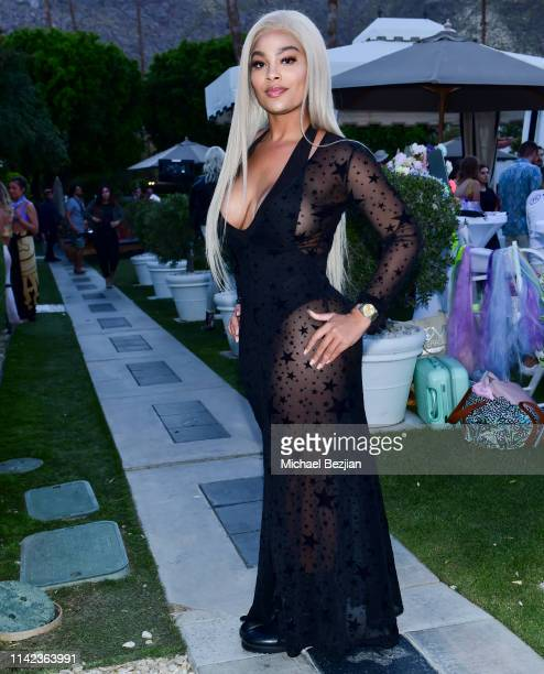 Meghan James poses for portrait at beGlammed Sunset Soiree Presented by Fullscreen on April 12 2019 in Palm Springs California
