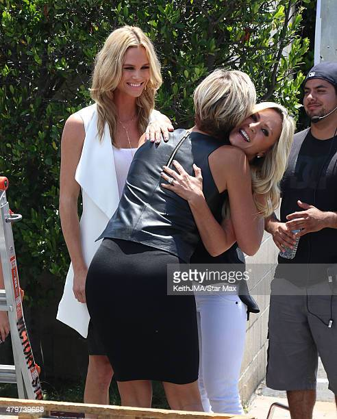 Meghan King Edmonds and Tamra Judge are seen on July 6 2015 in Los Angeles California