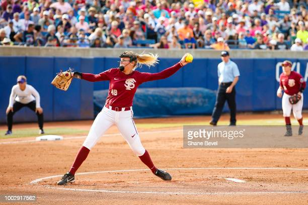 Meghan King of Florida State pitches during the Division I Women's Softball Championship held at USA Softball Hall of Fame Stadium OGE Energy Field...