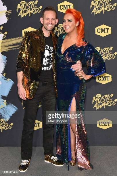 Meghan Linsey and guest attend the 2018 CMT Music Awards at Bridgestone Arena on June 6 2018 in Nashville Tennessee