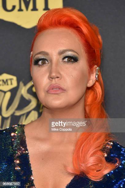 Meghan Linsey attends the 2018 CMT Music Awards at Bridgestone Arena on June 6 2018 in Nashville Tennessee
