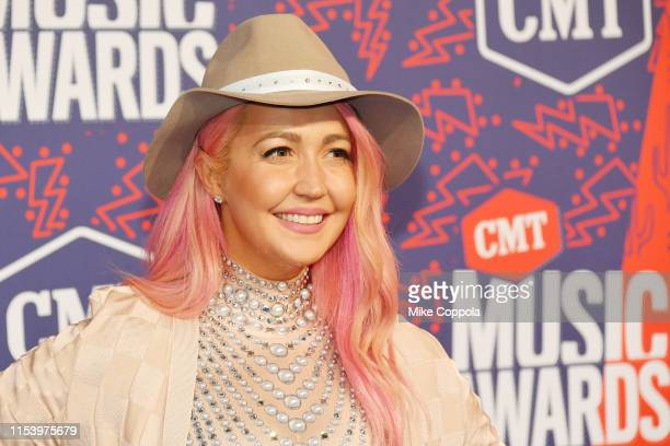 Meghan Linsey attends the 2019 CMT Music Award at Bridgestone Arena on June 05 2019 in Nashville Tennessee