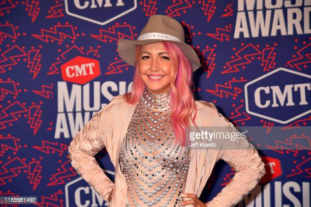 Meghan Linsey attends the 2019 CMT Music Awards at Bridgestone Arena on June 05 2019 in Nashville Tennessee