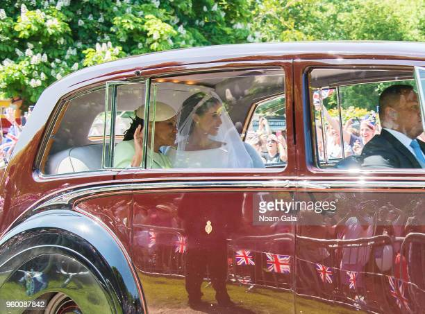 Meghan Markle and Doria Ragland arrive to the wedding of Prince Harry Harry to Ms Meghan Markle at Windsor Castle on May 19 2018 in Windsor England...