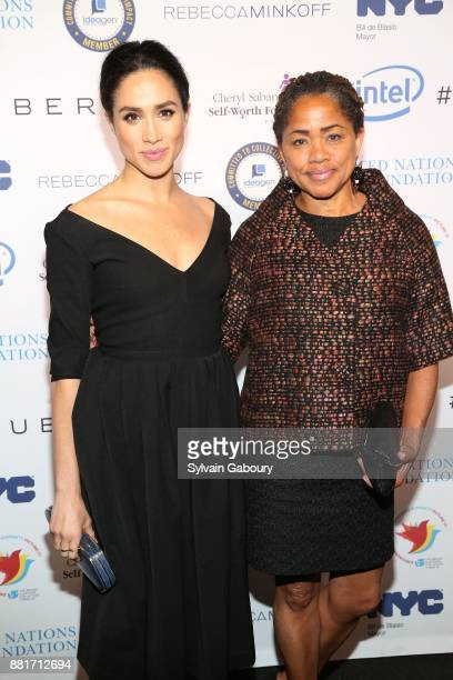 Meghan Markle and Doria Ragland attend UN Women's 20th Anniversary of the Fourth World Conference of Women in Beijing at Manhattan Centre at...