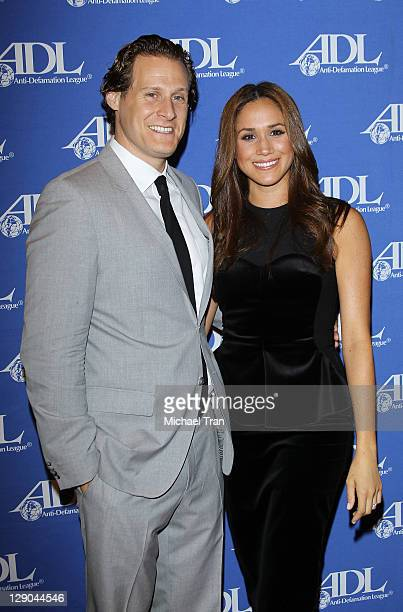 Meghan Markle and guest arrive at the AntiDefamation League Entertainment Industry Awards dinner held at The Beverly Hilton hotel on October 11 2011...