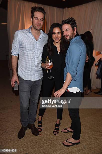 Meghan Markle and Marcus Anderson attend White Cube Gallery Soho Beach House Celebrate Art Basel Miami 2014 Hosted By Jay Jopling Nick Jones on...
