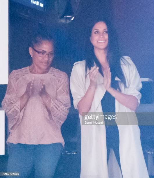 Meghan Markle and mother Doria Radlan attend the Closing Ceremony on day 8 of the Invictus Games Toronto 2017 on September 30 2017 in Toronto Canada...