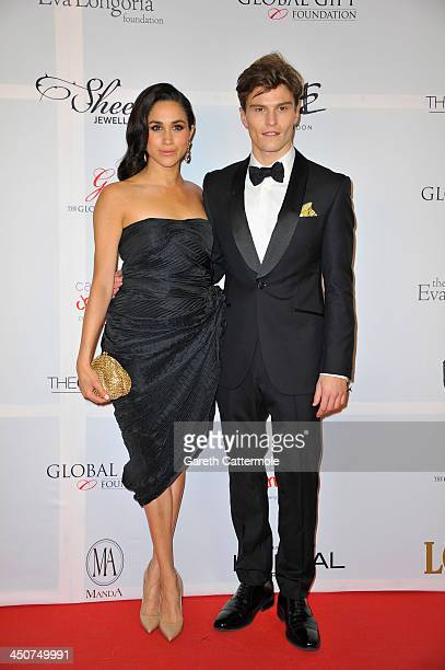 Meghan Markle and Oliver Cheshire attend the London Global Gift Gala at ME Hotel on November 19 2013 in London England