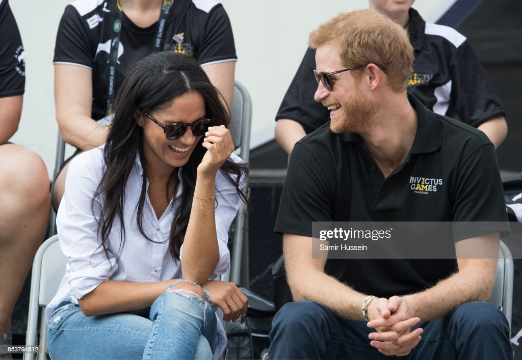 Meghan Markle and Prince Harry appear together at the wheelchair tennis on day 3 of the Invictus Games Toronto 2017 on September 25, 2017 in Toronto, Canada. The Games use the power of sport to inspire recovery, support rehabilitation and generate a wider understanding and respect for the Armed Forces.