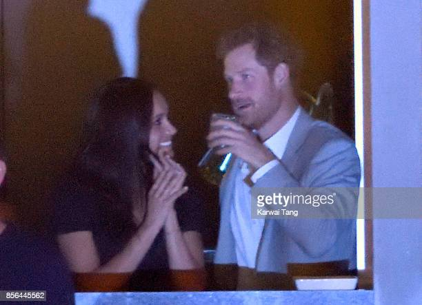 Meghan Markle and Prince Harry are seen at the Closing Ceremony on day 8 of the Invictus Games Toronto 2017 at the Air Canada Centre on September 30,...