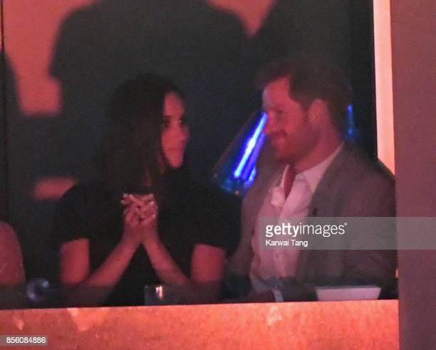 Meghan Markle and Prince Harry are seen on day 8 of the Invictus Games Toronto 2017 on September 30, 2017 in Toronto, Canada. The Games use the power...