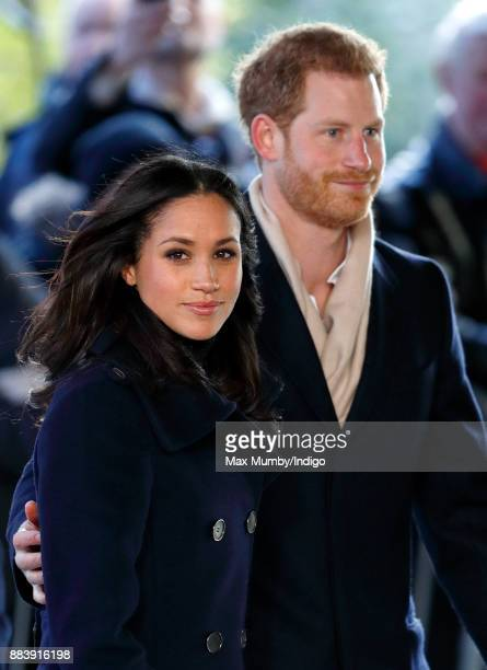 Meghan Markle and Prince Harry attend a Terrence Higgins Trust World AIDS Day charity fair at Nottingham Contemporary on December 1 2017 in...