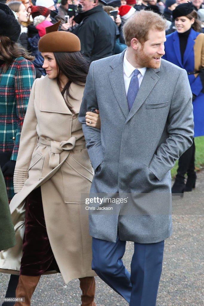 Members Of The Royal Family Attend St Mary Magdalene Church In Sandringham : News Photo