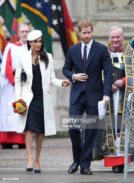Meghan Markle and Prince Harry attend the 2018 Commonwealth Day service at Westminster Abbey on March 12 2018 in London England