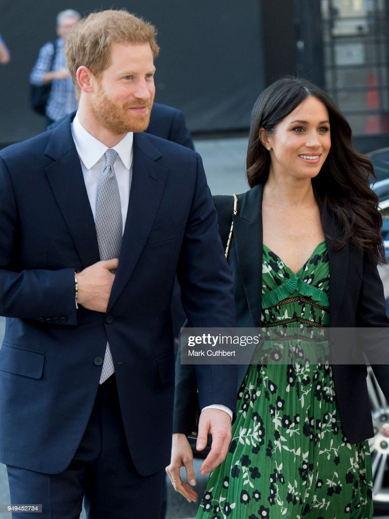 Meghan Markle and Prince Harry attend the Invictus Games Reception at Australia House on April 21, 2018 in London, England.