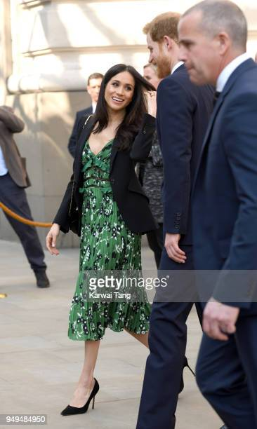 Meghan Markle and Prince Harry attend the Invictus Games Reception at Australia House on April 21 2018 in London England