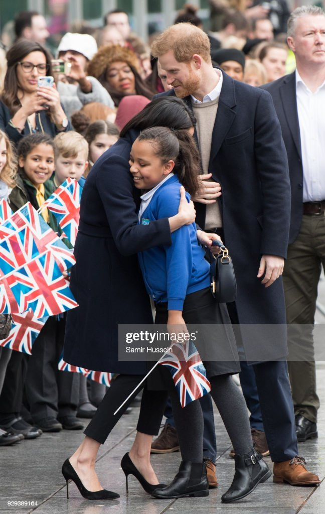 Prince Harry And Meghan Markle Visit Birmingham : News Photo