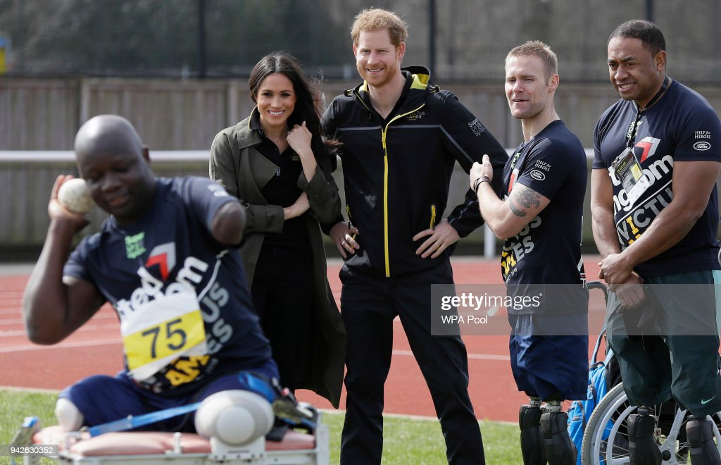 Prince Harry And Meghan Markle Attend UK Team Trials For The Invictus Games Sydney 2018 : News Photo