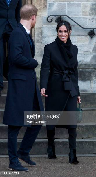 Meghan Markle and Prince Harry visit Cardiff Castle on January 18 2018 in Cardiff Wales