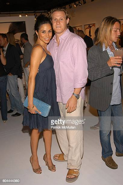 Meghan Markle and Trevor Engelson attend COACH Legacy Photo Exhibit by REED KRAKOFF at Coach on August 26 2006 in East Hampton NY