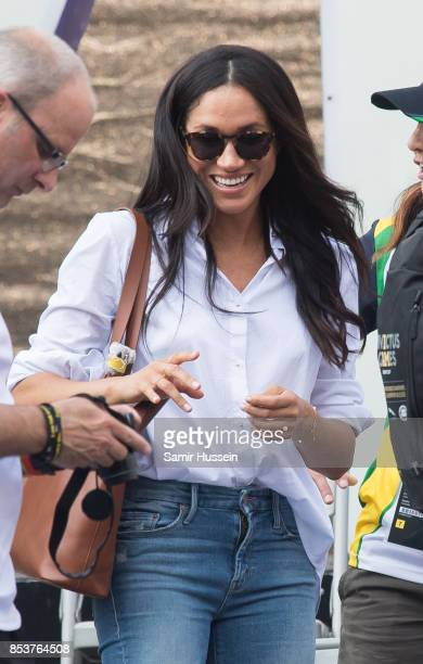 Meghan Markle appears at the wheelchair tennis on day 3 of the Invictus Games Toronto 2017 on September 25 2017 in Toronto Canada The Games use the...