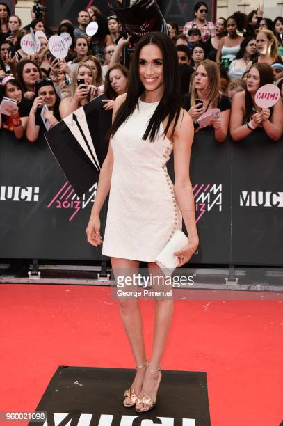 Meghan Markle arrives at the 2013 MuchMusic Video Awards at MuchMusic HQ on June 16 2013 in Toronto Canada