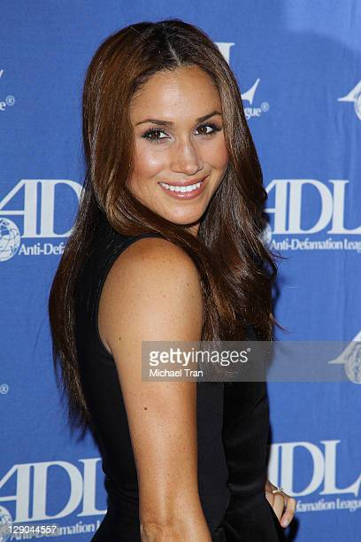 Meghan Markle arrives at the AntiDefamation League Entertainment Industry Awards dinner held at The Beverly Hilton hotel on October 11 2011 in...