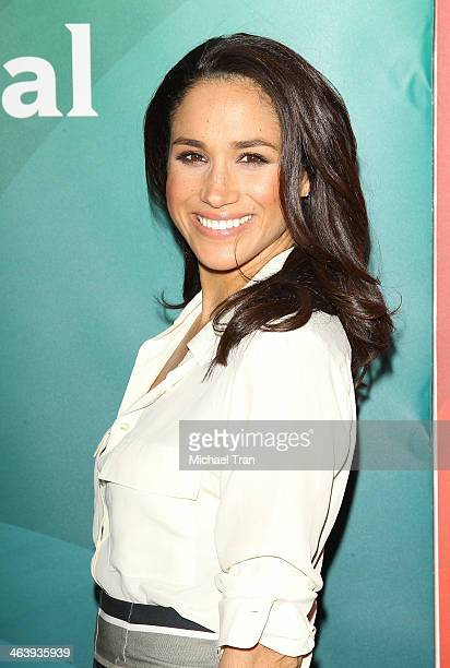 Meghan Markle arrives at the NBC/Universal 2014 TCA Winter press tour held at The Langham Huntington Hotel and Spa on January 19 2014 in Pasadena...