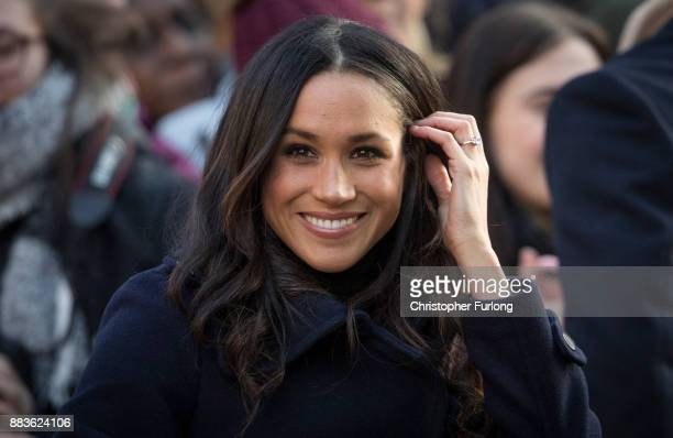 Meghan Markle arrives at the Terrance Higgins Trust World AIDS Day charity fair at Nottingham Contemporary on December 1 2017 in Nottingham England...
