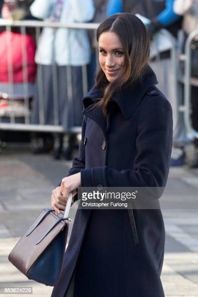 Meghan Markle arrives at the Terrance Higgins Trust World AIDS Day charity fair at Nottingham Contemporary on December 1, 2017 in Nottingham,...