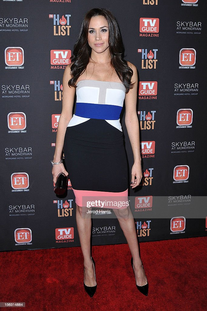 Meghan Markle arrives at TV Guide Magazine's Annual Hot List Party at SkyBar at the Mondrian Los Angeles on November 12, 2012 in West Hollywood, California.