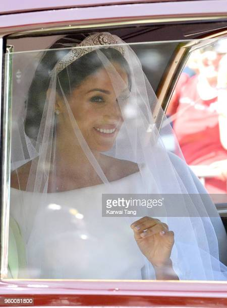 Meghan Markle arrives at Windsor Castle ahead of her wedding to Prince Harry on May 19 2018 in Windsor England Prince Henry Charles Albert David of...
