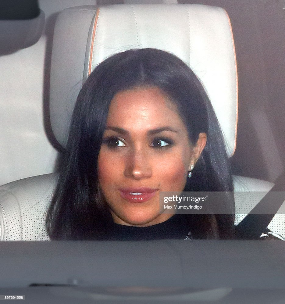 Meghan Markle attends a Christmas lunch for members of the Royal Family hosted by Queen Elizabeth II at Buckingham Palace on December 20, 2017 in London, England.