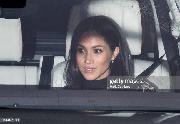 Meghan Markle attends a Christmas lunch for the extended Royal Family at Buckingham Palace on December 20 2017 in London England