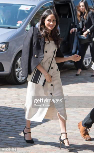 Meghan Markle attends a reception with delegates from the Commonwealth Youth Forum as part of Commonwealth Heads of Government Meeting at the...