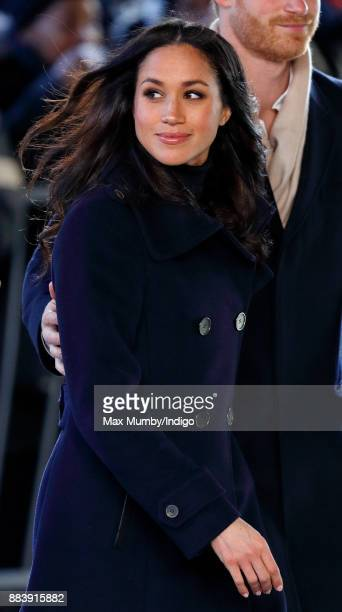 Meghan Markle attends a Terrence Higgins Trust World AIDS Day charity fair at Nottingham Contemporary on December 1 2017 in Nottingham England Prince...