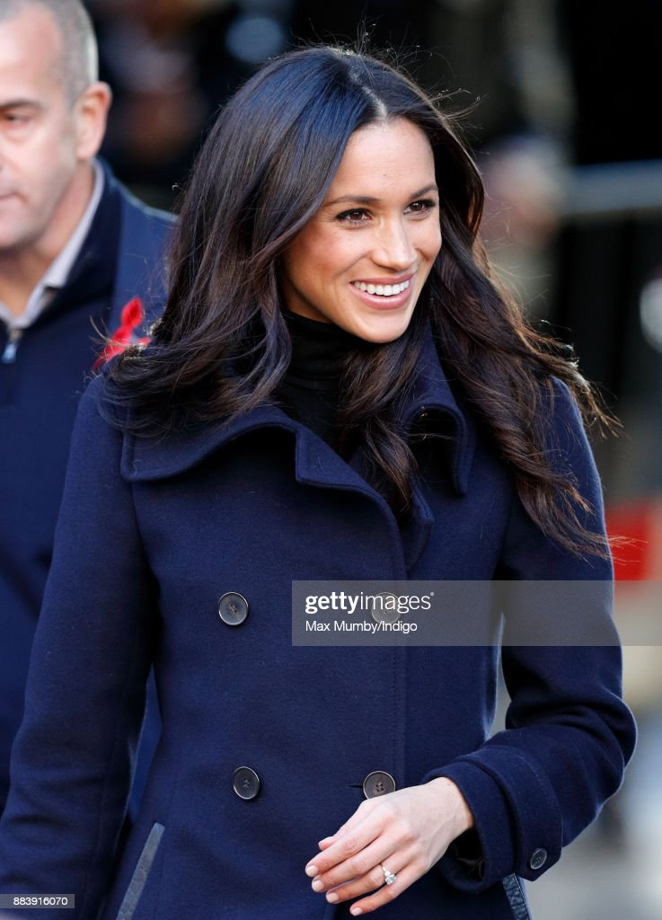 Meghan Markle attends a Terrence Higgins Trust World AIDS Day charity fair at Nottingham Contemporary on December 1, 2017 in Nottingham, England. Prince Harry and Meghan Markle announced their engagement on Monday 27th November 2017 and will marry at St George's Chapel, Windsor in May 2018.
