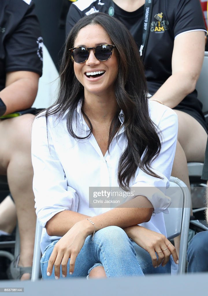 Meghan Markle attends a Wheelchair Tennis match during the Invictus Games 2017 at Nathan Philips Square on September 25, 2017 in Toronto, Canada