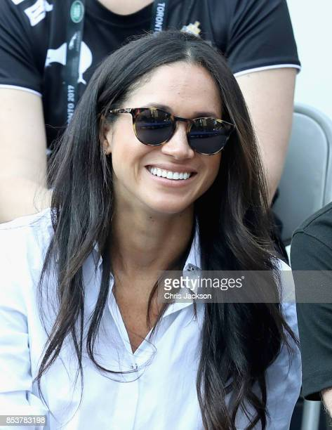 Meghan Markle attends a Wheelchair Tennis match during the Invictus Games 2017 at Nathan Philips Square on September 25 2017 in Toronto Canada