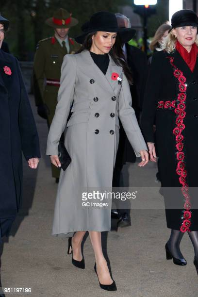 Meghan Markle attends an Anzac Day dawn service at Hyde Park Corner on April 25 2018 in London England