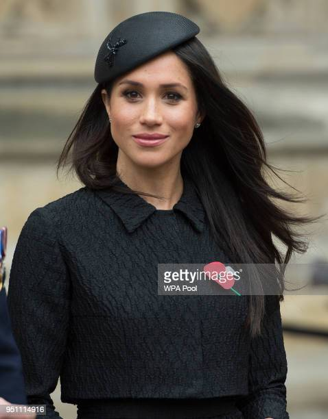 Meghan Markle attends an Anzac Day service at Westminster Abbey on April 25 2018 in London England
