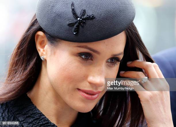 Meghan Markle attends an Anzac Day Service of Commemoration and Thanksgiving at Westminster Abbey on April 25 2018 in London England Anzac Day...
